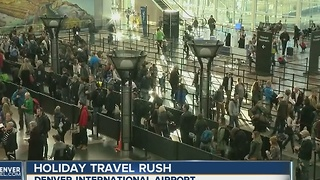Expecting record-setting crowds over Thanksgiving weekend, DIA adds extra TSA agents, K-9 teams - Video