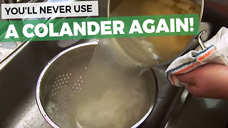 You'll Never Use A Colander Again After Seeing This! - Video