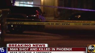 PD: Man is dead after being shot in Phoenix