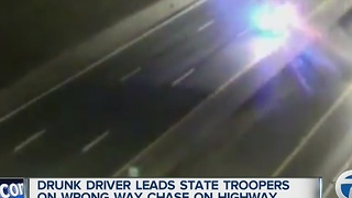 Wrong way driver leads police on wild chase - Video