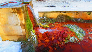 Natural mineral water spring  - Video