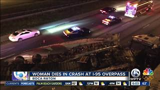 26-year-old woman dies at notoriously dangerous I-95 exit in Boca Raton - Video