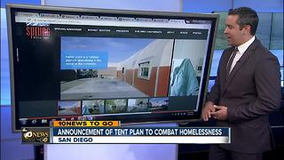 Announcement of tent plan to combat homelessness - Video