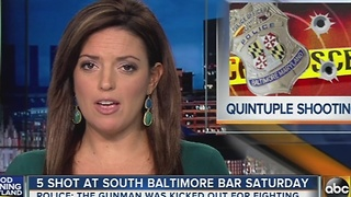 5 shot at south Baltimore bar Saturday - Video