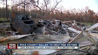 Event raises thousands for families in need after Polk County brush fire - Video