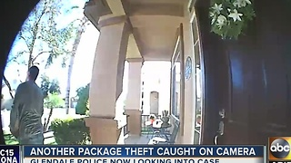 Glendale man warning others after package stolen from doorstep - Video