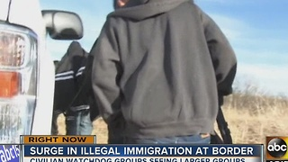 Watchdog groups noting increase in illegal immigration at border - Video