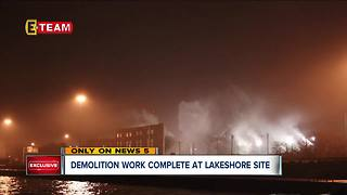 Cleanup work completed at FirstEnergy's Lakeshore Power Plant site after February implosion - Video