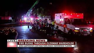Crews battle 3-alarm fire at commercial building in Oldsmar - Video