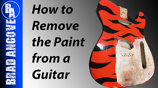 How to remove paint from a guitar - Video