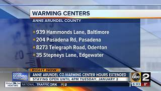 Anne Arundel County warming centers - Video