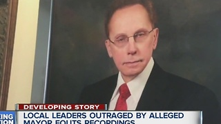 Local leaders outraged by alleged Mayor Fouts recordings - Video