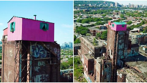 This Is What Montreal's Creepy Abandoned Pink House Looks Like Up Close