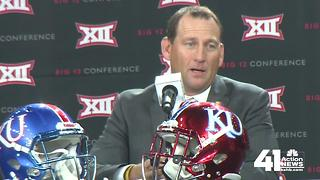 KU Head Footbal Coach David Beaty talks quarterback candidates - Video