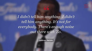 LeBron Causes Media Firestorm With Lonzo Ball Talk After Game - Video