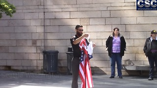 Seattle Washington #MarchAgainstSharia Leader Has Message For Media - Video