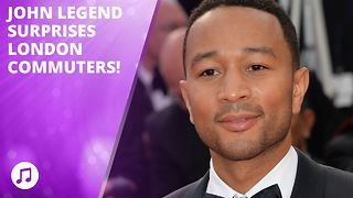 John Legend surprises with very public performance - Video