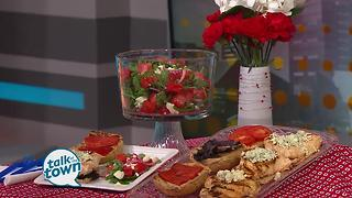 Red White & Blue Chicken with Watermelon Feta Salad