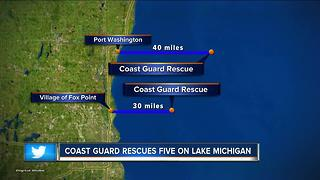 5 people rescued during Chicago Yacht Club race to Mackinac