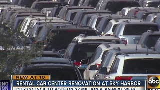 Renovations in place for rental car center at Sky Harbor - Video