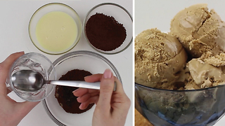 Super Simple 3-Ingredient Coffee Ice Cream - Video