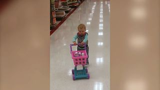 Toddler's Hilarious Fail While Shopping - Video
