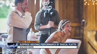 Rascal Flatts shocks Wisconsin couple at wedding - Video