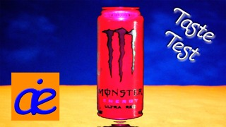 Worst Tasting Energy Drink | Energy Drink Taste Test - Monster Energy Drink Ultra Red - AEI Online - Video