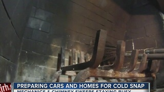 Residents preparing for cold weather snap - Video