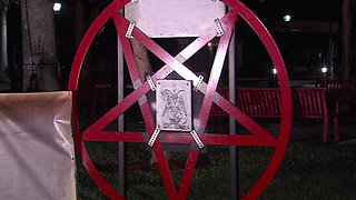 Group marching in Boca Raton to protest Satanic symbol - Video