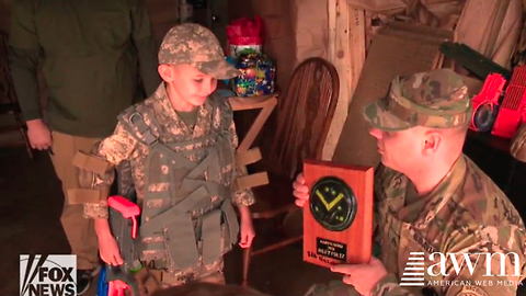 "Autistic Boy Who ""Idolizes Army Guys"" Gets A Surprise Birthday Visit From His Heroes"