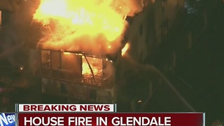 House fire in Glendale