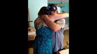 Girl Surprises Stepfather on His Birthday With Adoption Papers