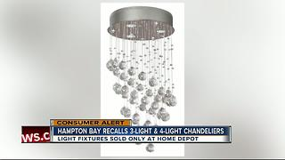 Crystal chandeliers sold exclusively at Home Depot recalled for burn, fire hazards - Video