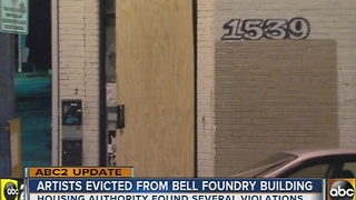 Artist forced to leave Bell Foundry hopes to find new space for local artists - Video