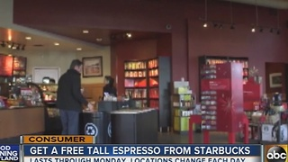 Starbucks offers free coffee in Maryland - Video