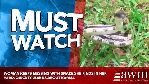 Woman Keeps Messing With Snake She Finds In Her Yard, Quickly Learns About Karma