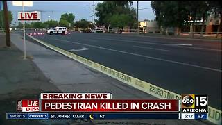 Pedestrian killed at west Phoenix intersection - Video