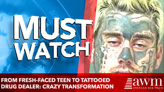 From fresh-faced teen to tattooed drug dealer: Extraordinary transformation - Video