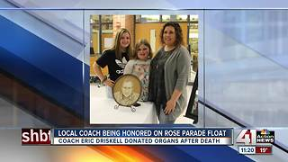 Blue Valley coach to be honored on Rose Parade float