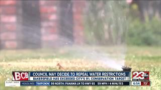 Council may decide to repeal water restrictions - Video