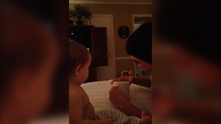 Magic Trick Blows Baby's Mind - Video