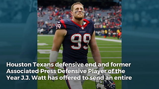 NFL Star J.J. Watt Gives Entire Military Unit in Afghanistan a Christmas Gift They'll Never Forget - Video