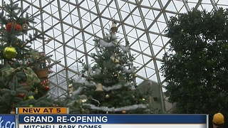 Grand Opening Ceremony held at the Mitchell Park Domes