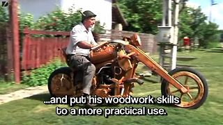 Wooden Motorcycle - Video