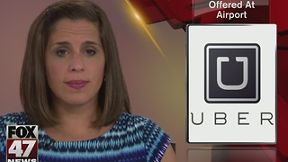 Uber begins service at Capital Region International Airport - Video