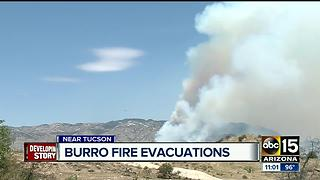 Burro Fire grows north of Tucson