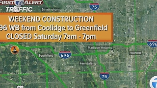 Westbound I-696 closing in Oakland County on Saturday, eastbound on Sunday - Video