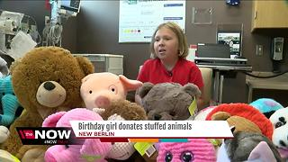 New Berlin girl donates birthday gifts to kids in need - Video