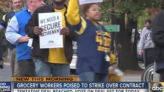 Grocery workers poised to strike over contract - Video